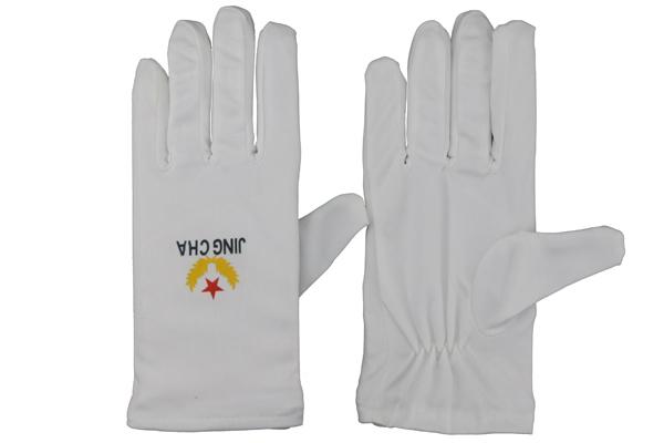 警察执勤白手套